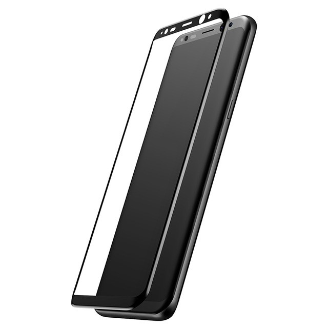 Защитное стекло для Samsung Galaxy S8+ Baseus Silk-screen 3D Arc - Черное (SGSAS8P-3D01)