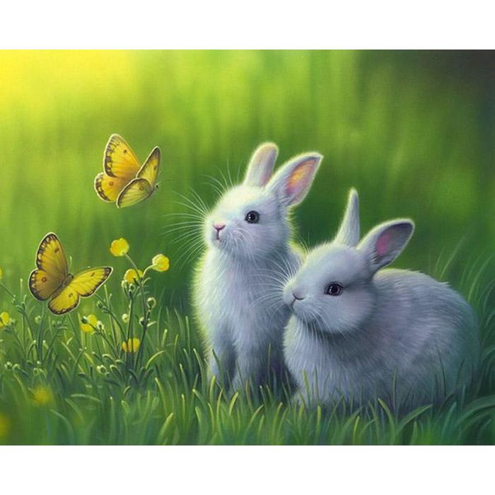 культура картинка два зайчика на полянке хочу отдать какому-нибудь