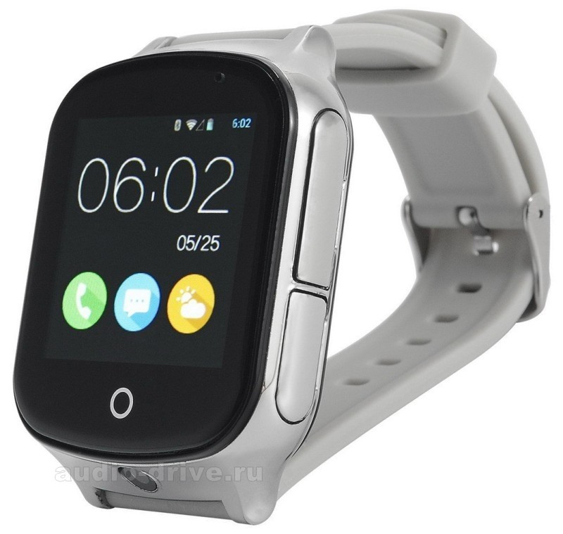 Детские часы-телефон с GPS Smart Baby Watch T100 - Серебристые