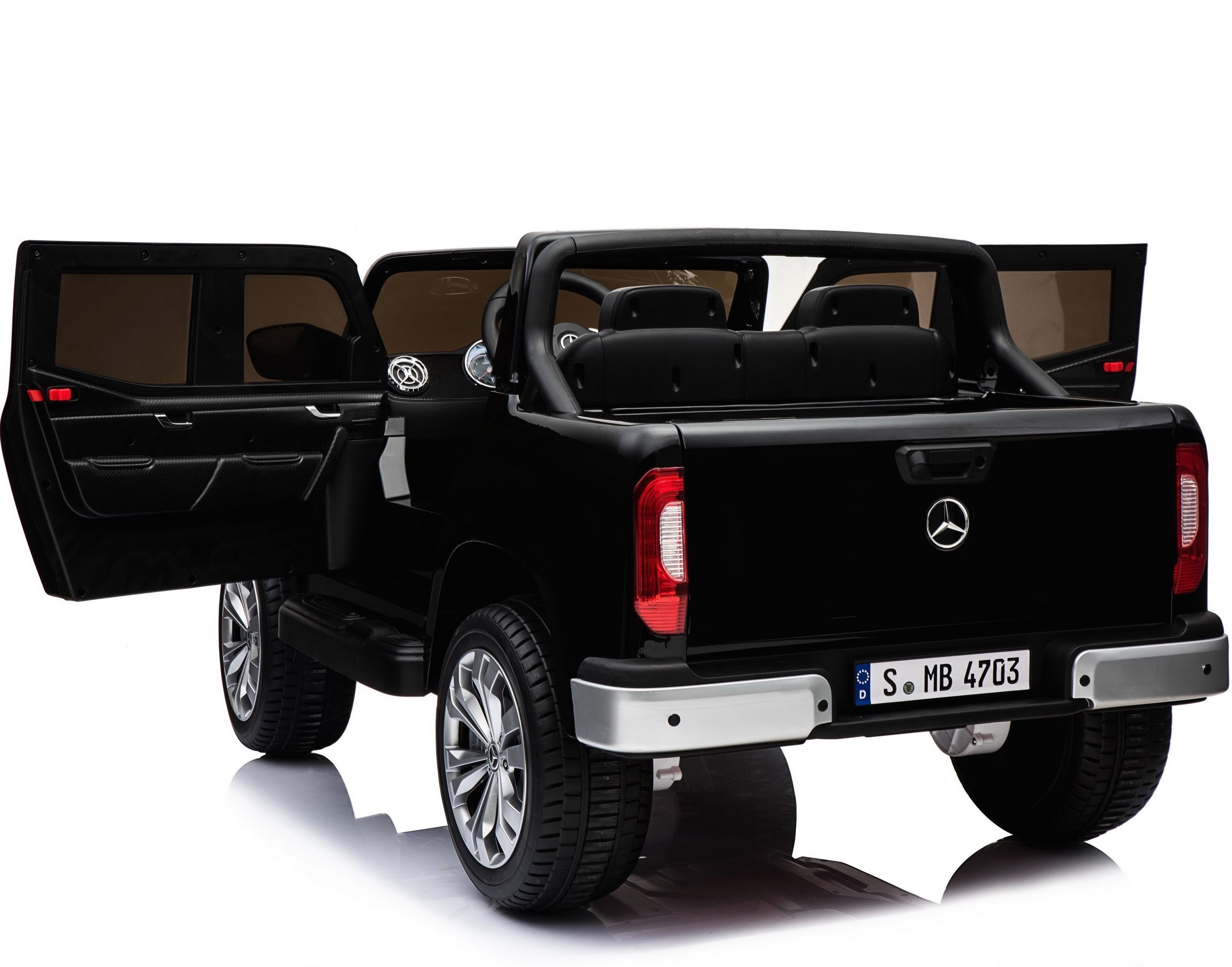 Детский электромобиль XMX Mercedes-Benz X-Class 4WD MP4 - XMX606-BLACK-PAINT-MP4