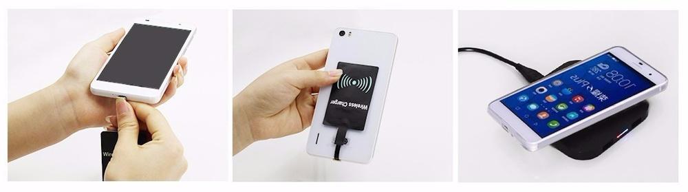 Подключение универсального micro-USB ресивера беспроводной зарядки QI