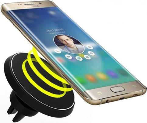 автомобильный держатель для телефона в дефлектор с беспроводной