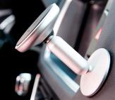 Место крепления автомобильного держателя для телефона на торпеду магнитный Baseus Bullet An on-board - Серебристый (SUYZD-0S)