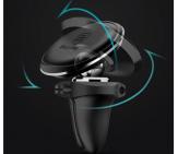 Регулировка магнитного держателя в дефлектор Baseus SUGX-A01 - Черный