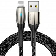 Кабель USB - Lightning 1м Baseus Horizontal Data Cable - Черный (CALSP-B01)