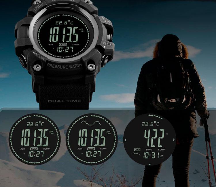 11f8bf66 Особенности часов с высотомером, барометром и термометром SKMEI 1358 -  Черные