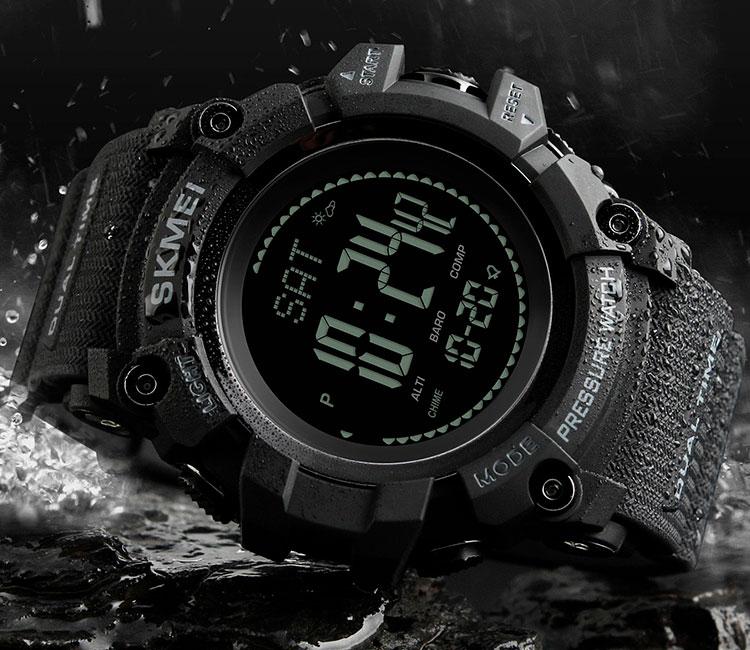 11105646 Специальные материалы, из которых выполнены часы, являются отличной защитой  от влаги. Задняя крышка циферблата из нержавеющей стали надежно защищает ...