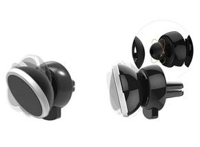 Широкие диапазоны регулировок магнитного держателя телефона в дефлектор