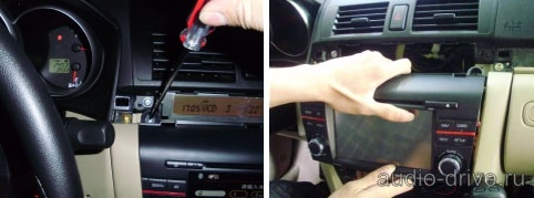 Mazda 6 замена штатной магнитолы