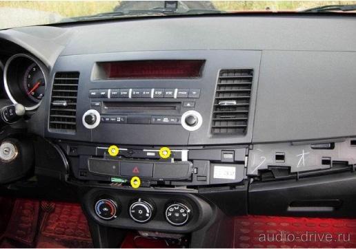 Как снять магнитолу Mitsubishi